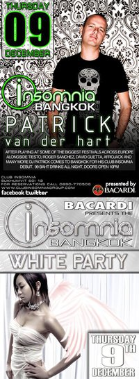 Party with DJ Patrick Van Der Hart at Insomnia